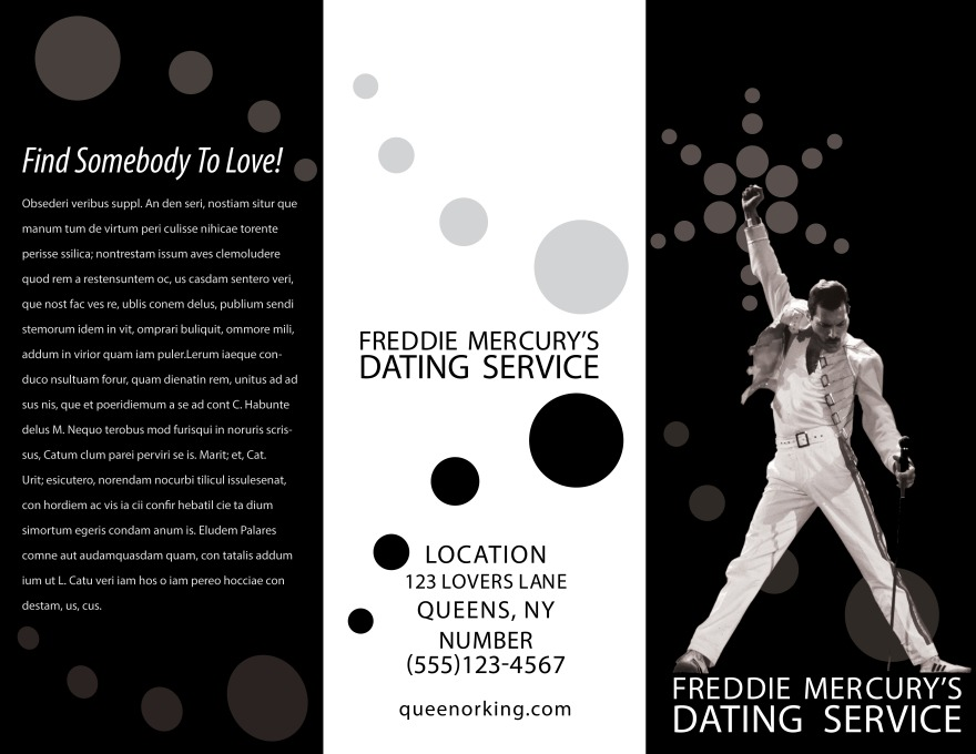 Freddie Mercury's Dating Service